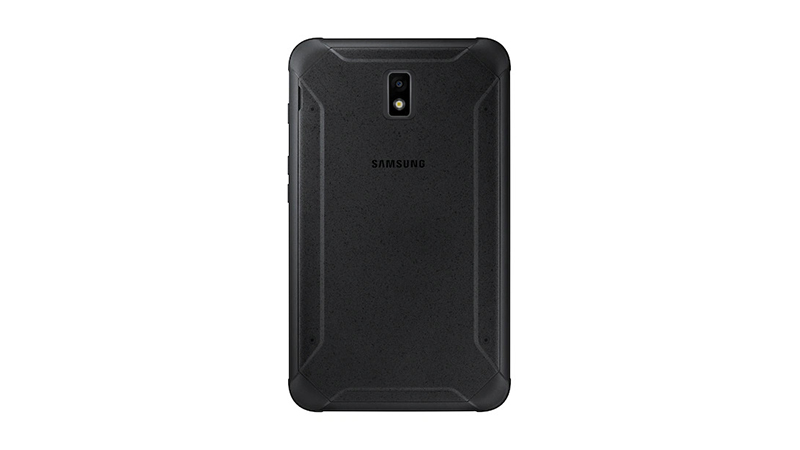 Samsung Galaxy Tab Active2 back view with rugged case