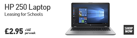 HP 250 Laptop leasing for schools - £2.95 + VAT per week