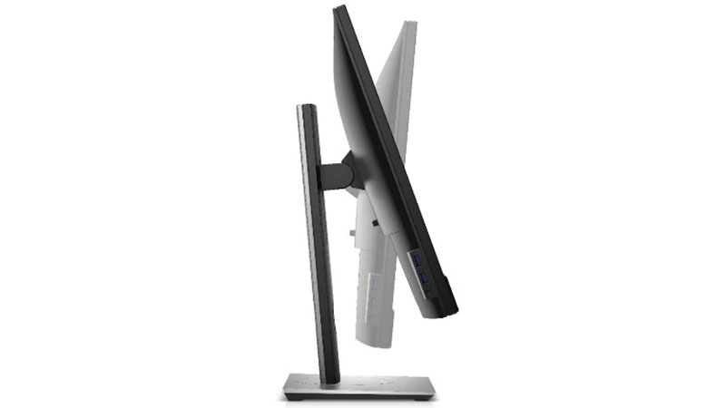 """Dell 24"""" Video Conferencing Display showing side view with adjustable stand"""