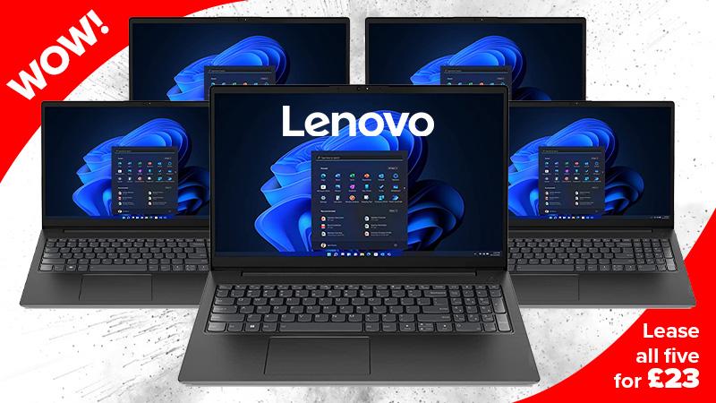 Lenovo V15 Laptops for £19 per week