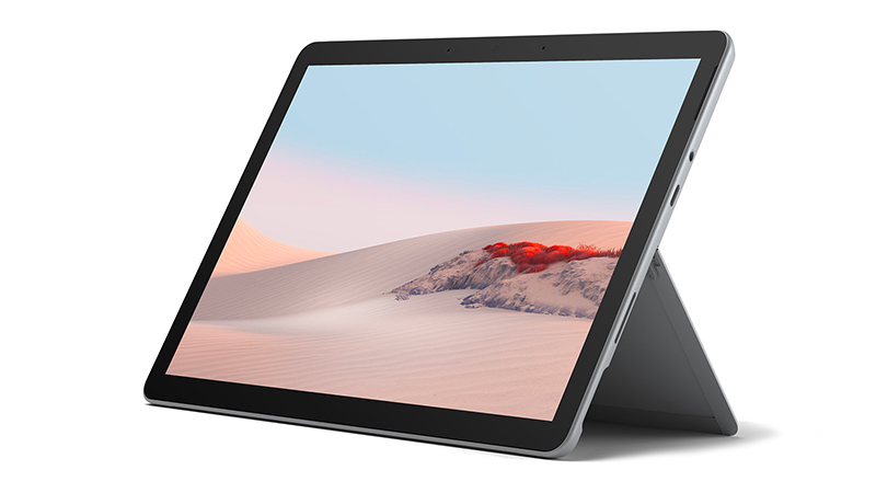 Surface Go 2 front open view of tablet