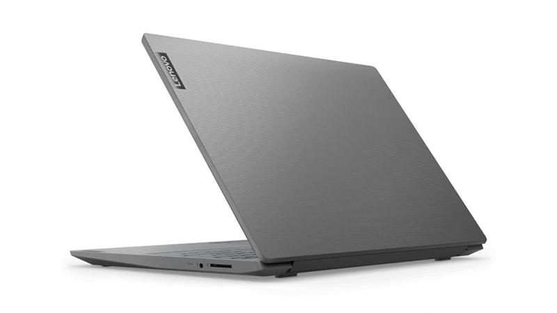Lenovo V15 grey laptop back view