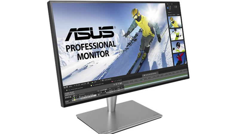 """ASUS ProArt 27"""" PA27AC Display front side view with monitor on"""