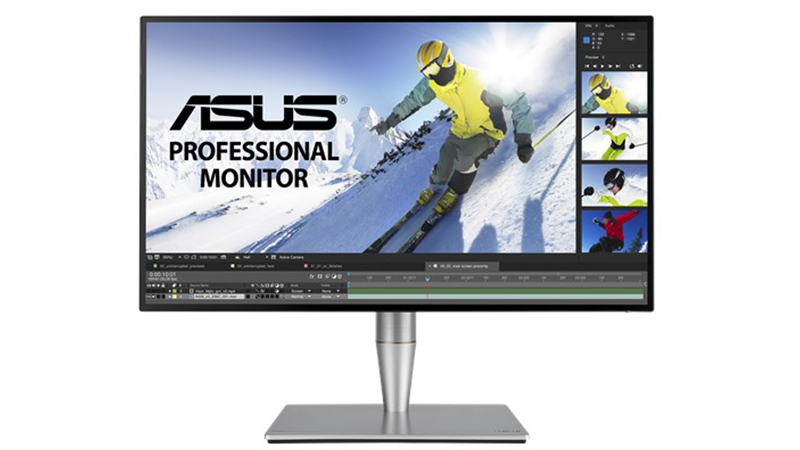 """ASUS ProArt 27"""" PA27AC Display front view with monitor on"""