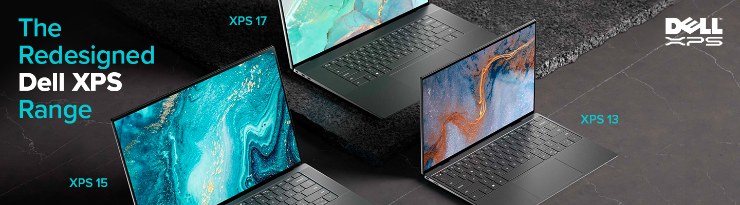 The redesigned Dell XPS Range showing dell XPS 15, XPS 17 & XPS 13