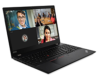 Lenovo ThinkPad T15 side open view