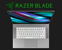 Razer Blade Studio look down open view