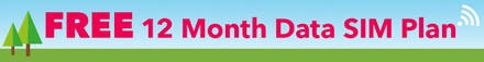 FREE 12 month Data SIM Plan On all 4G/LTE Laptops 6GB Data per month