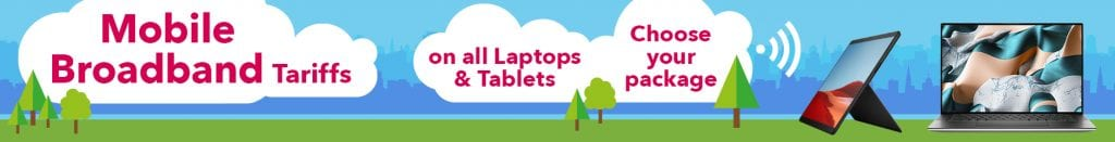 FREE 12 month Data SIM Plan On all 4G/LTE Laptops 6GB Data per month - showing laptops