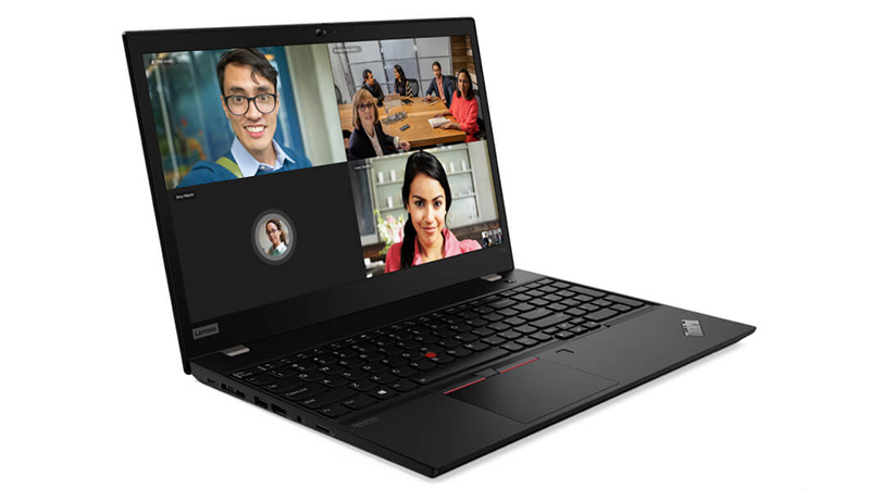 Lenovo ThinkPad T15 side open view