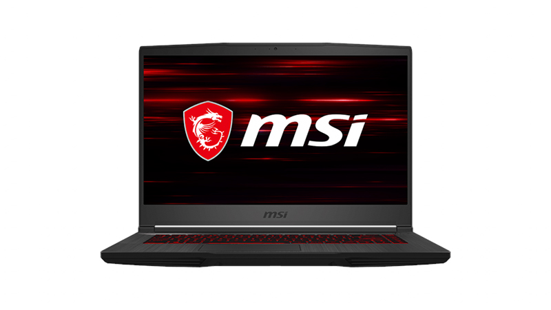 "MSI GF65 Thin 15.6"" front open view"