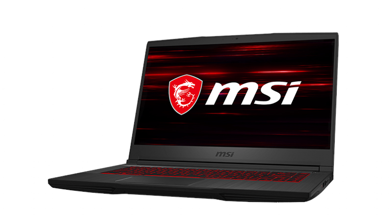 "MSI GF65 Thin 15.6"" Laptop front open side view"