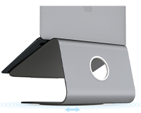 Rain Design mStand showing stand with a MacBook on top of it