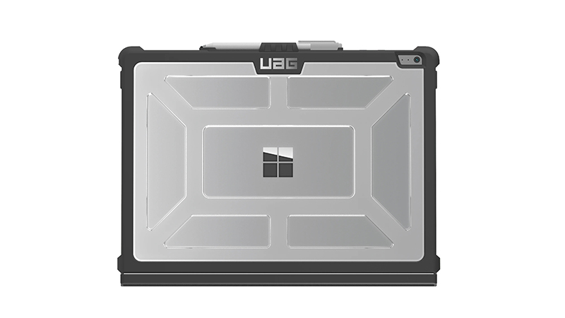 """UAG Rugged Case For 13"""" Surface Book 3 back view on a Surface"""