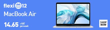 Flexi-12 MacBook Air £14.65 + VAT per week