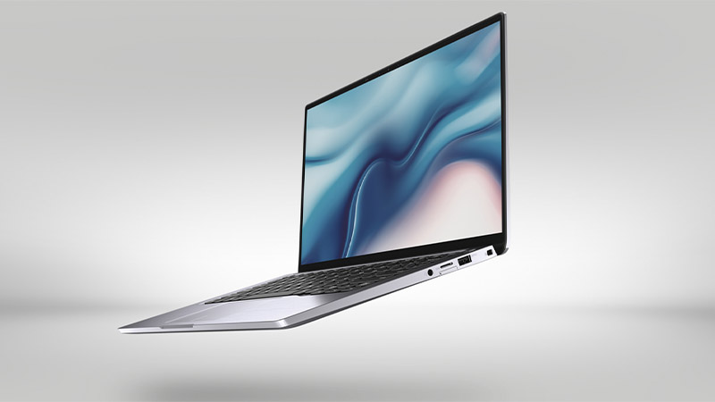 Dell Latitude 9410 2-in-1 laptop front open side view