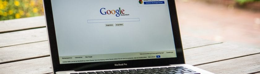 Google on a MacBook Pro