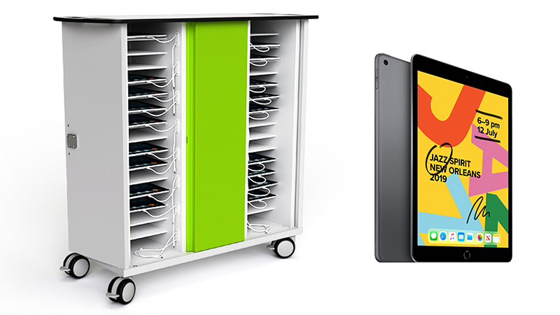 Learning lab trolley with iPad