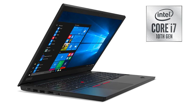 Lenovo ThinkPad E15 with Intel Core i7 10th Gen open side view