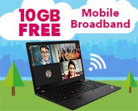 6GB Free Mobile Broadband on the Lenovo T15