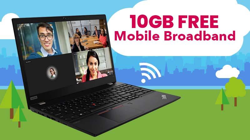 6GB Free Mobile Broadband on the Lenovo T15