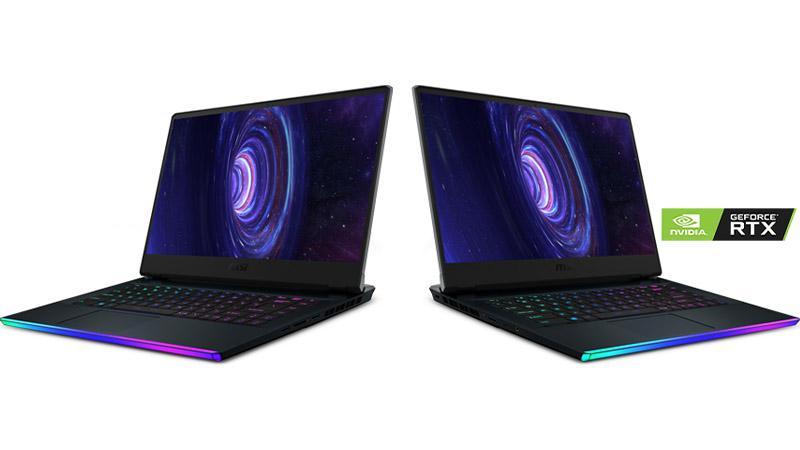 """MSI GE66 Raider 15.6"""" laptop 2 laptops side views"""