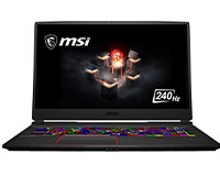 "MSI GE75 Raider 17.3"" laptop front view"