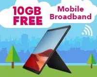 Surface Pro X with FREE 6GB Mobile Broadband