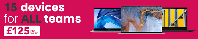 15 devices for all teams - £125 per week