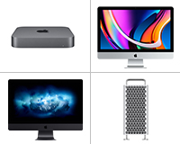 Apple Mac Desktops small images - Mac mini, iMac, iMac Pro, Mac Pro