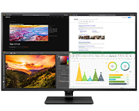 LG 43UN700 4K UHD HDR display front view