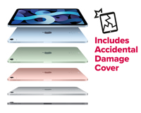 iPad air colour options with accidental damage cover
