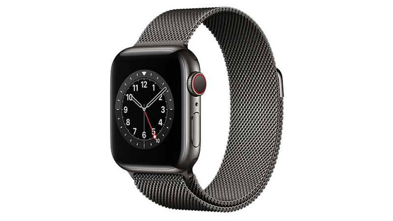 Apple Watch Graphite Stainless Steel Case with Graphite Milanese Loop