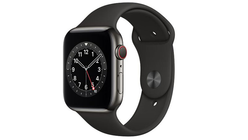 Apple Watch Graphite Stainless Steel Case with Black Sport Band