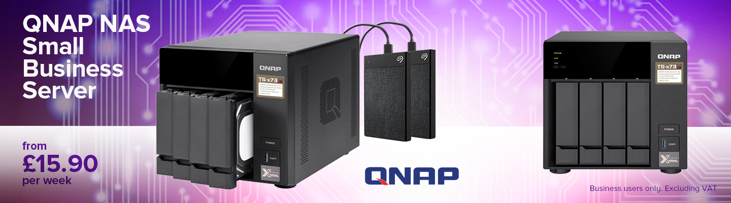 QNAP NAS Small Business Server from £15.90 per week
