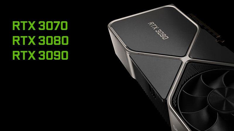 GeForce RTX 3070 3080 3090 GPU's