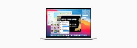 MacBook Pro with Apple Big Sur Operating System open on screen