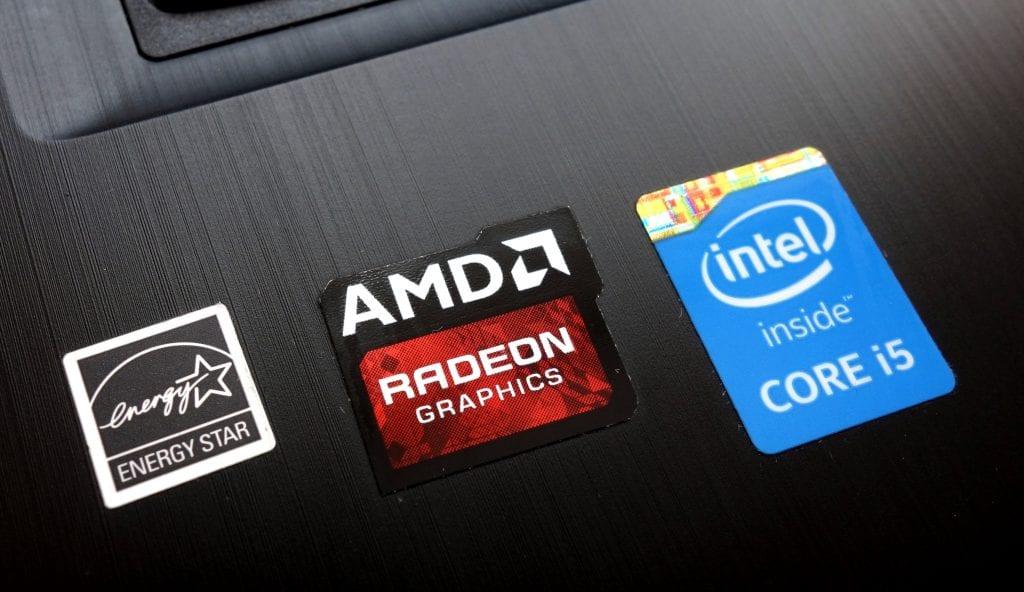 Core i5 sticker on a laptop