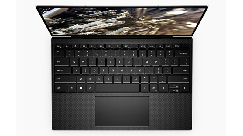 Dell XPS 13 9310 2-in-1 keyboard open view