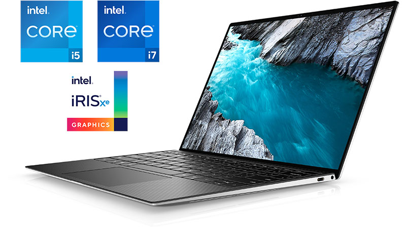 Dell XPS 13 9310 Intel Core i5 or Intel Core i7 with Intel Iris Xe graphics