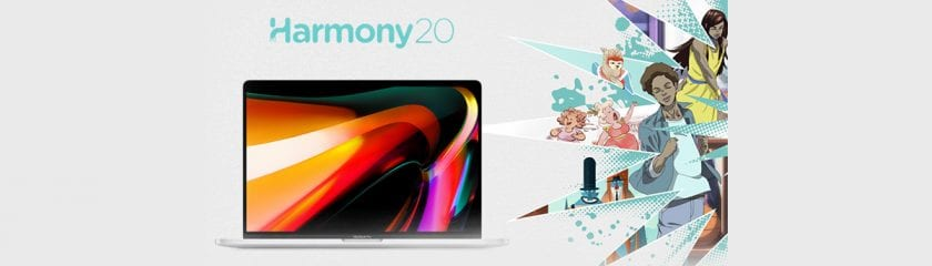 """MacBook Pro 16"""" and Toon Boom Harmony Animation software"""