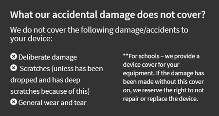 What our accidental damage does not cover?