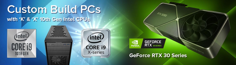 Custom Build PCs with K & X 10th Gen Intel GPUs