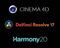 Cinema 4D, DaVinci Resolve 17 & Harmony20 Software bundles