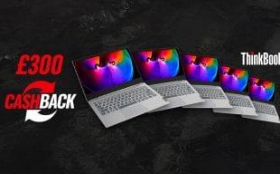 Cash back offer on Lenovo ThinkBook laptops from Hardsoft in February 2021