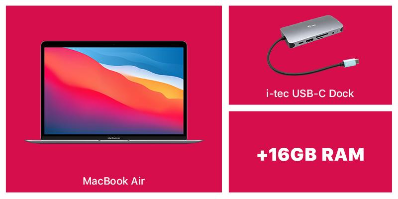 MacBook Air and i-Tec dock bundle
