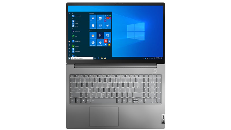 Lenovo ThinkBook 15 11th Gen laptop keyboard and screen view