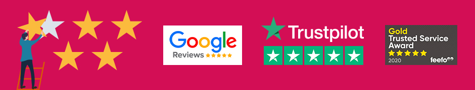 trustpilot and Feefo reviews image