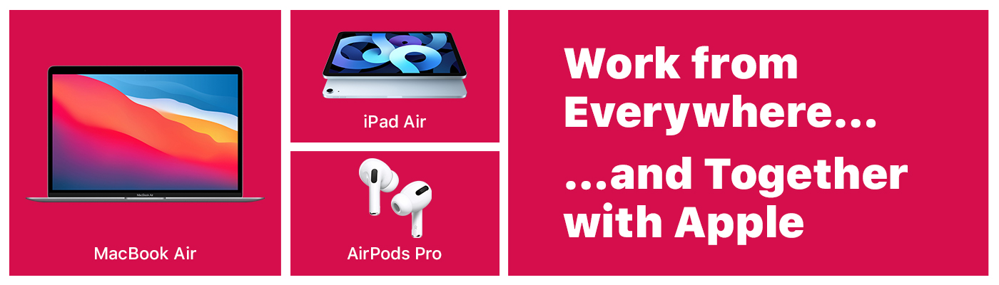 macBook Air plus ipad air plus Airpods Pro bundle deal for leasing