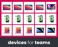Devices for Teams 15 Apple devices